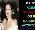 Gautami Denies Her Daughter's Film Debut!