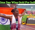 Hima Das Wins Gold For India! Tamil News