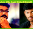 Actors Who Have Social Interest!