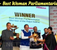Kanimozhi Receives The Best Woman Parliamentarian Award!