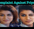 A Complaint Launched Against Priya Prakash In Hyderabad! Tamil News