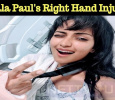 Amala Paul's Right Hand Injured!