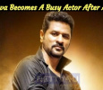 Prabhu Deva Becomes A Busy Actor After A Decade!