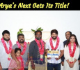 Arya's Next Gets Its Title! Movie Launched Today! Tamil News