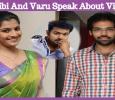 Sibiraj And Varalaxmi At Sathya Success Meet!