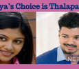 Oviya's Choice Is Thalapathy!