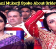 Rani Mukerji Spoke About Sridevi!