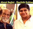 Rumours About Rajini And Karthik Subbaraj Movie! Tamil News
