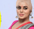 Poorna Tonsures Her Head For Kodi Veeran