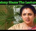 Lakshmy Ramakrishnan Slams The Lecturer! Tamil News
