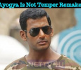Ayogya Is Not Temper Remake! Tamil News