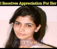 Chinmayi Receives Appreciation For Her Tweet!