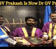 Actor GV Prakash Is Now Dr GV Prakash! Tamil News