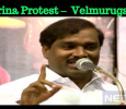 Marina Protest – Announces Velmurugan! Indirectly Attacks Kamal Haasan!