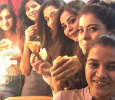 Kajol Gives Treat To The Crew During Shooting Of Movie