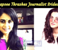 Taapsee Thrashes Journalist Sridevi For Her Congratulatory Tweet For Dileep! Tamil News