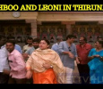 Khushboo Meets Leoni In Thirunallaru Temple!