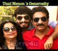 Unni Menon Decided To Donate The Amount Saved For His Son's Marriage! Tamil News