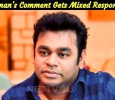 AR Rahman's Comment On MeToo Allegations Gets Mixed Response! Tamil News