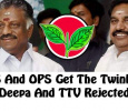 Reason Why EPS Team Got The Twinleaf Symbol! Deepa To Stay Out! Tamil News