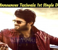 Vijay Deverakonda Announces The Taxiwala First Single Date!