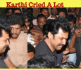 Karthi Cried After Hearing His Fan's Death! Tamil News
