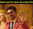 No Thanks Card For Varun… But A Word Of Appreciation! Murugadoss To Have A Press Meet! Tamil News