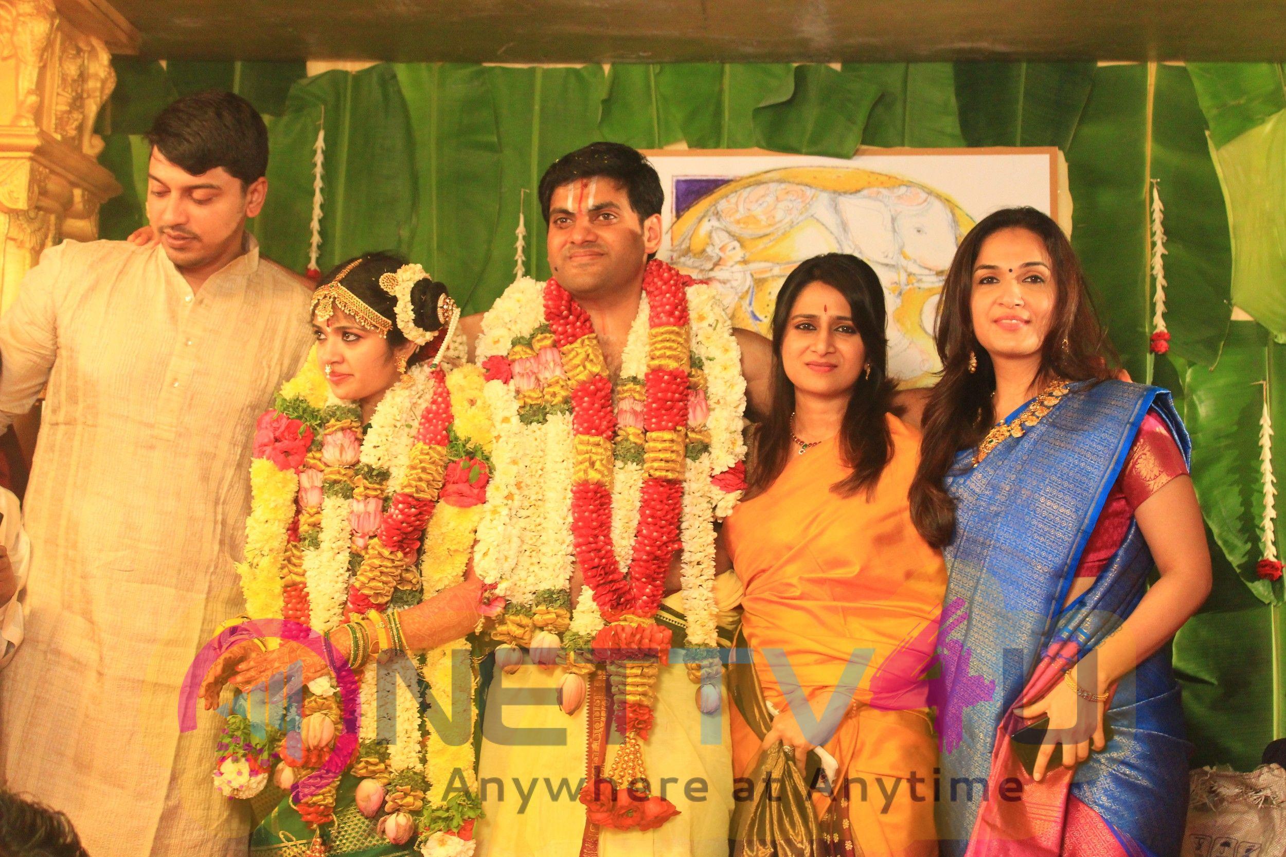 Actor Y.Gee Mahendran Son Wedding Photos Tamil Gallery