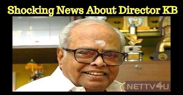 Shocking! Director K Balachander's Properties In Auction!