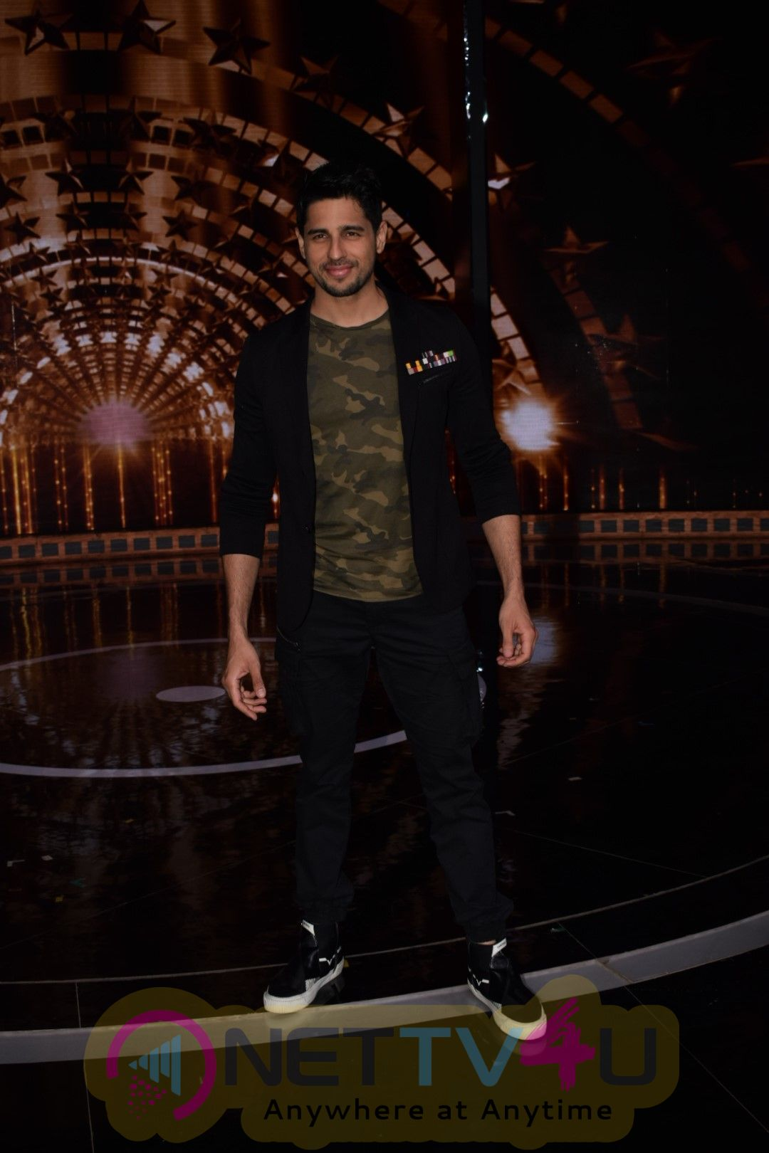 Sidharth Malhotra On The Set Of Indian Next Superstar