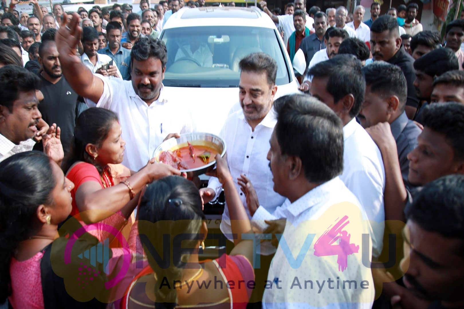 Kamal Haasan At Modakurichi, Erode District Images