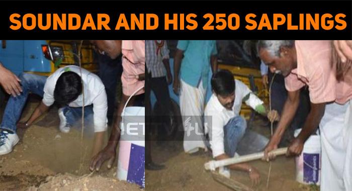 Soundararaja Continues His Social Service!