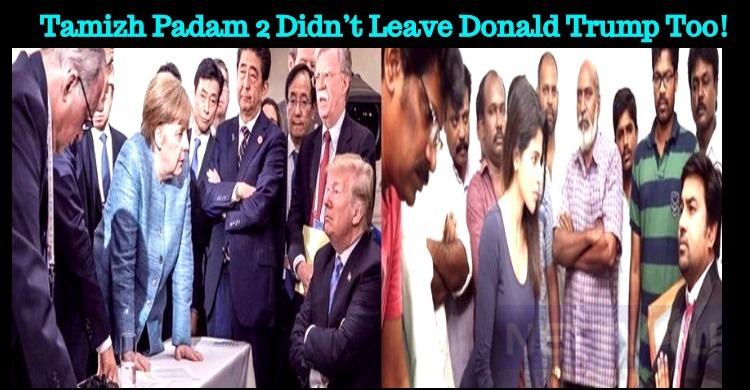 Tamizh Padam 2 Didn't Leave Donald Trump Too! Tamil News