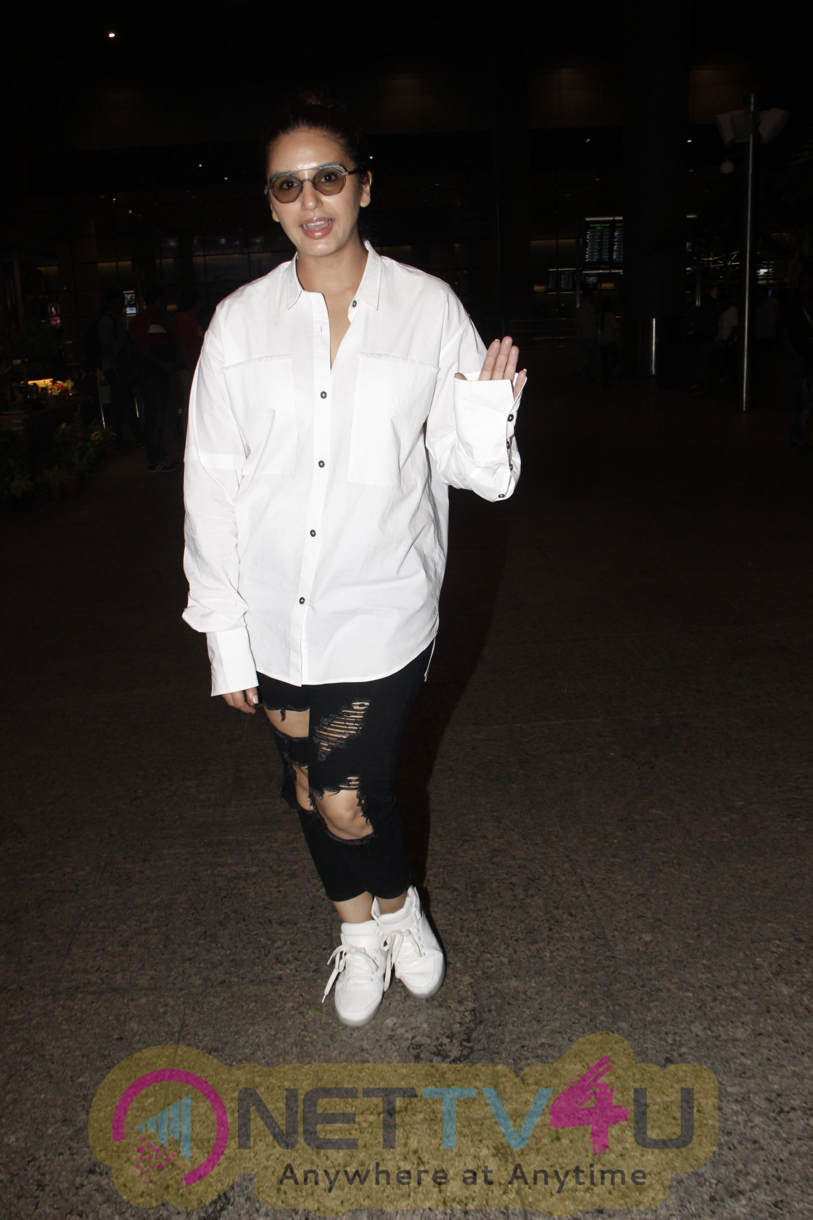 Actress Huma Qureshi Spotted At Airport Stills