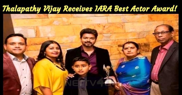 Thalapathy Vijay Receives IARA Best Actor Award..