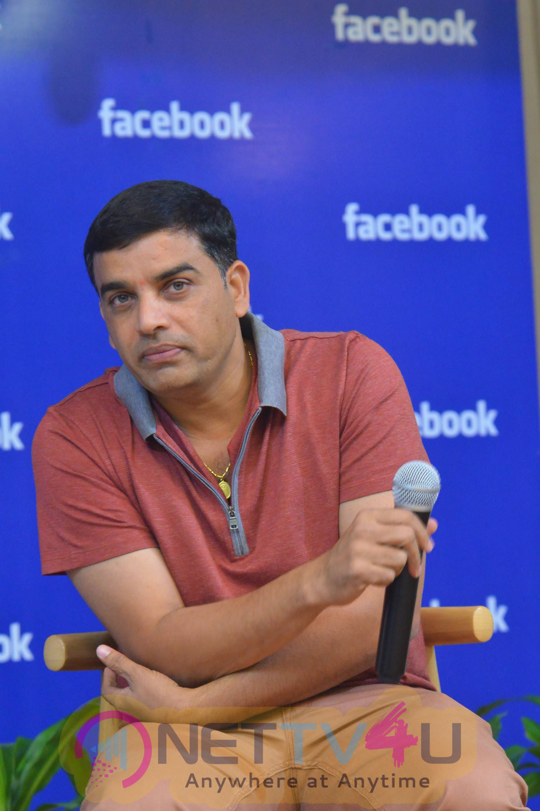 Dil Raju And Sharwanand At Facebook Hyderabad Office Photos Telugu Gallery