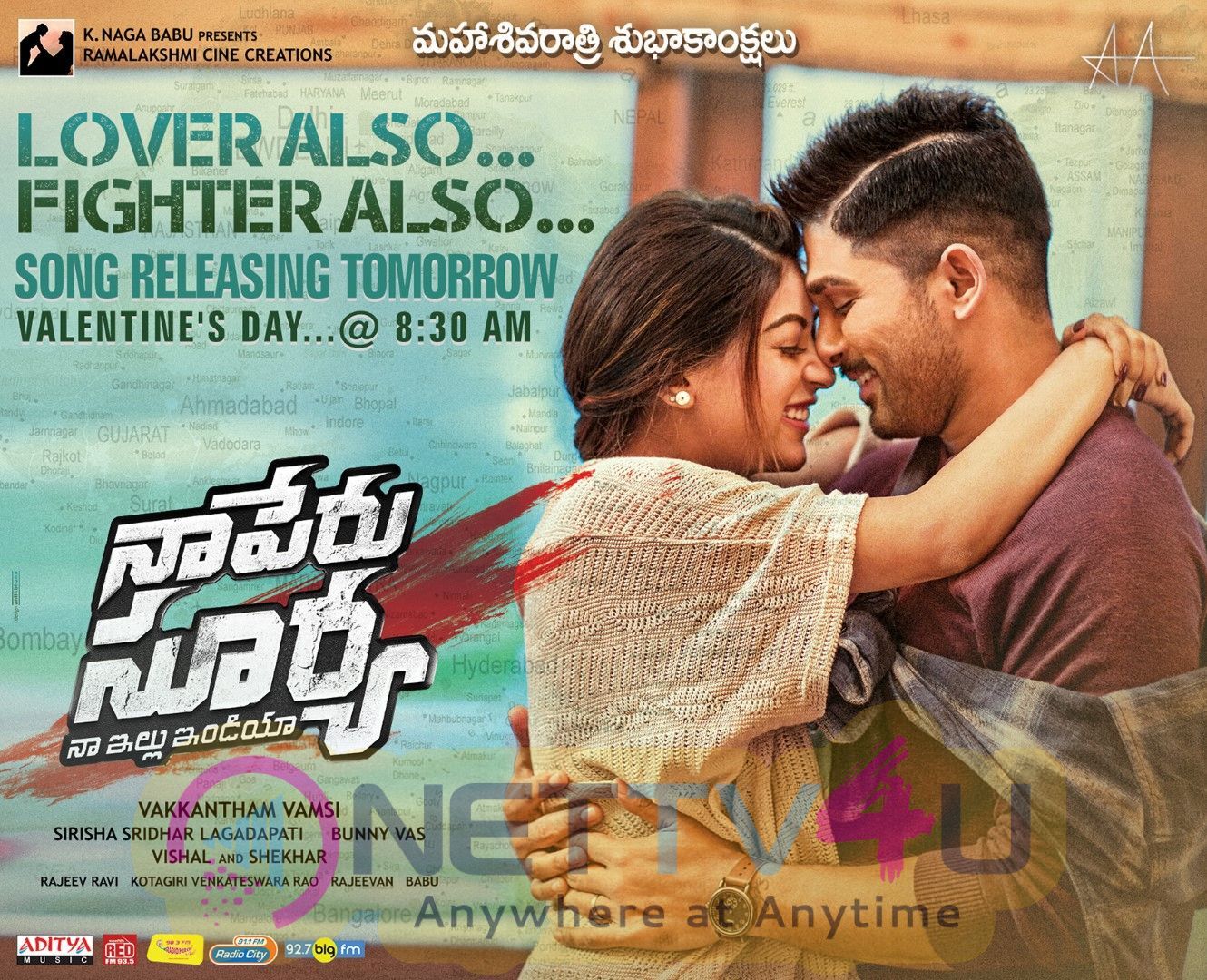 Naa Peru Surya Song Release Posters