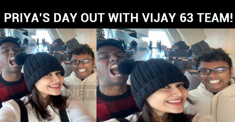 Priya's Day Out With Vijay 63 Team!