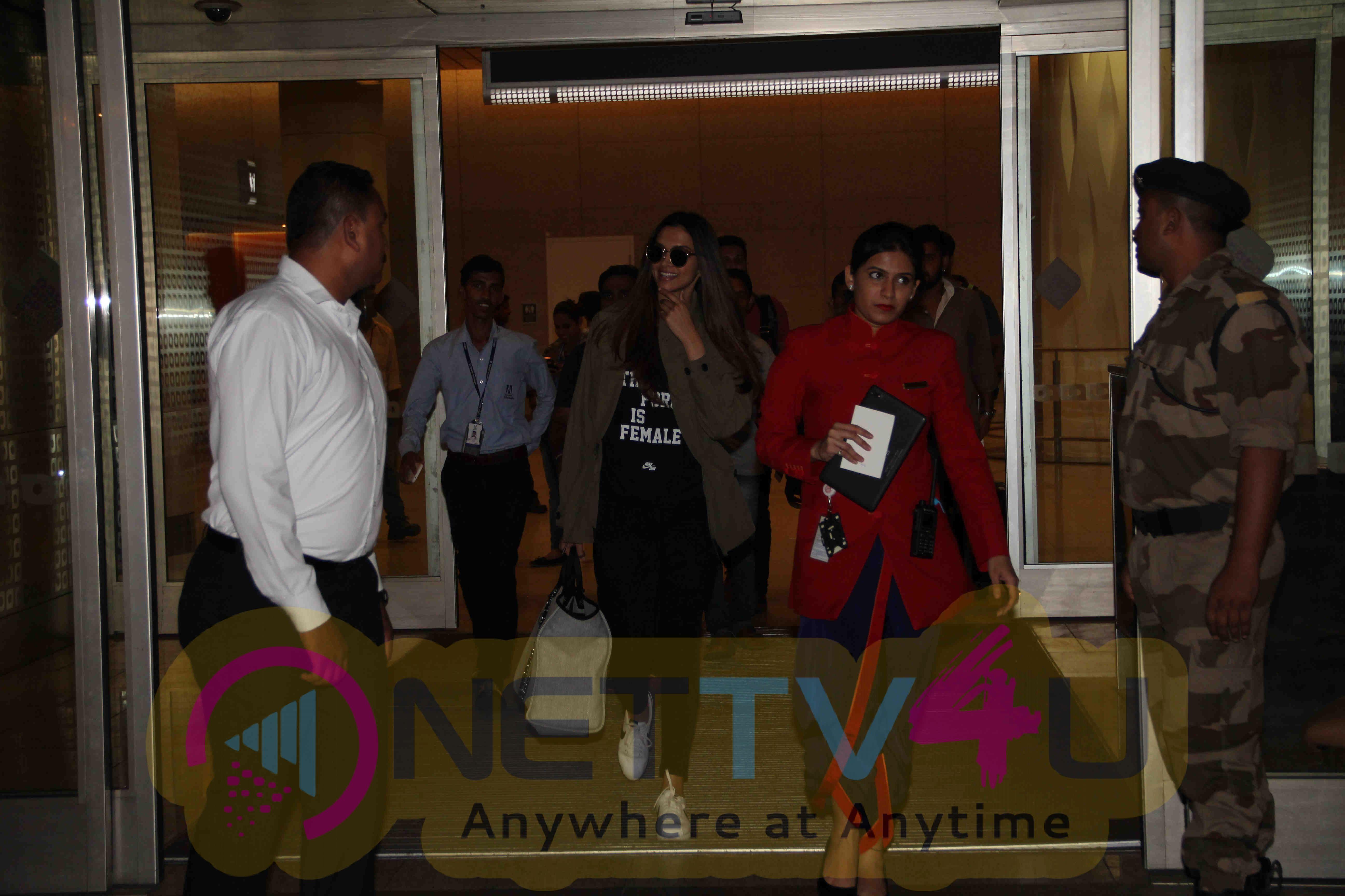 Stills Of  Deepika Padukone Spotted At The Mumbai International Airport