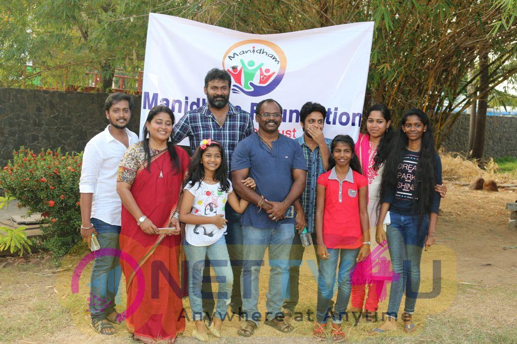 Stills Of Nisaptham Movie Team Launches Manitham Foundation Trust