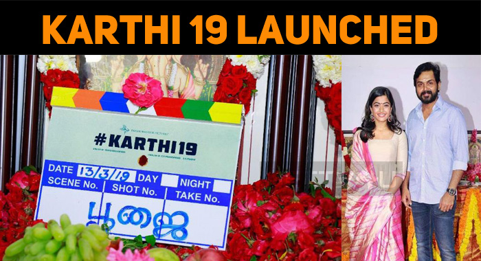 Karthi 19 Launched With A Formal Pooja!