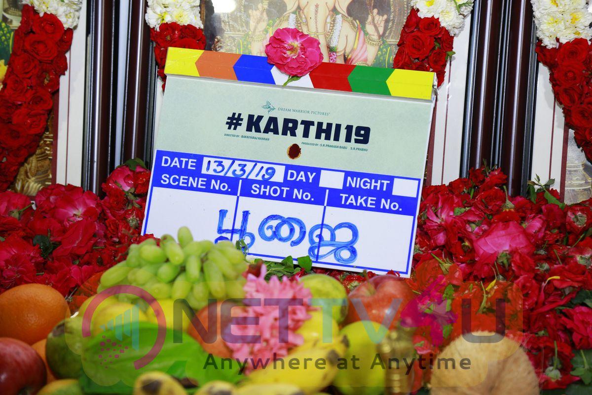 Karthi 19 Movie Pooja Images Tamil Gallery