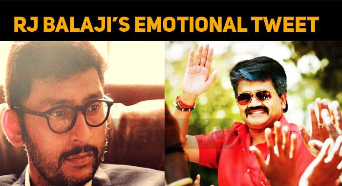RJ Balaji's Emotional Tweet On The Sad Demise Of JK Rithesh!