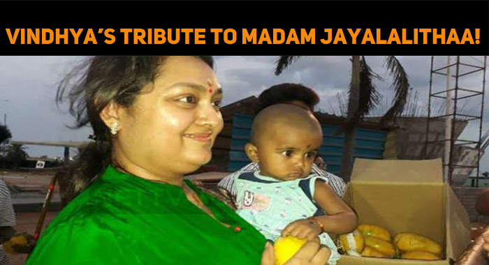 Vindhya's Tribute To Madam Jayalalithaa!