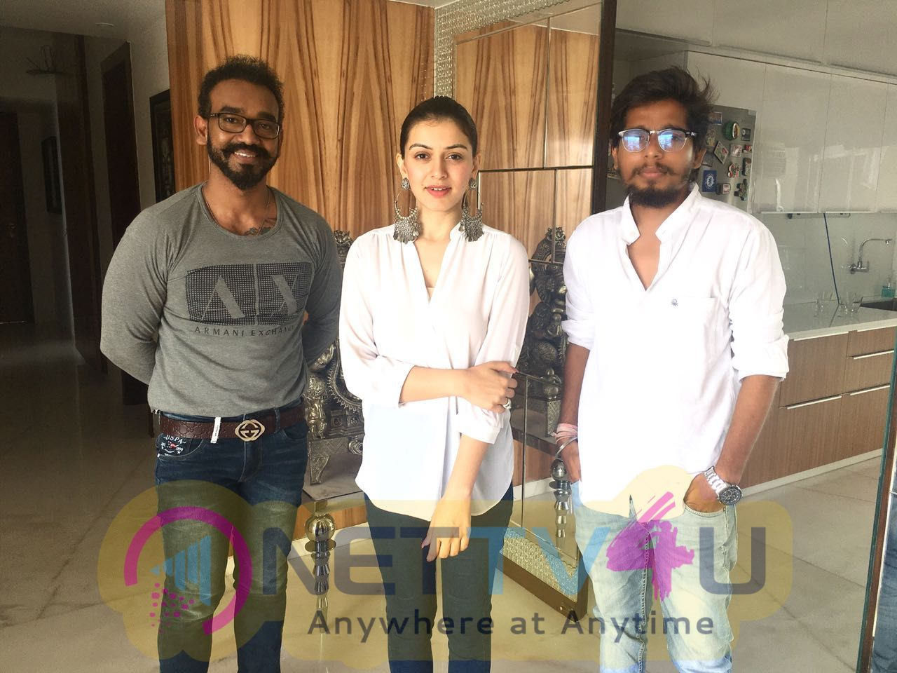 Actress Hansika Motwani With Maha Movie Team Images