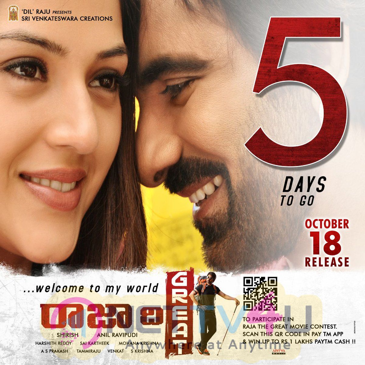 Raja The Great Movie  5 Days To Go Poster
