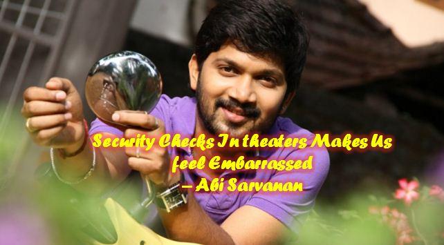 Abi Saravanan Feels Embarrassed!