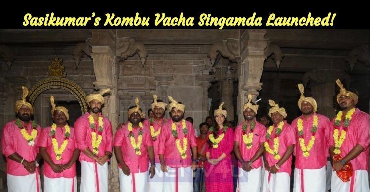 Sasikumar's Kombu Vacha Singamda Launched!