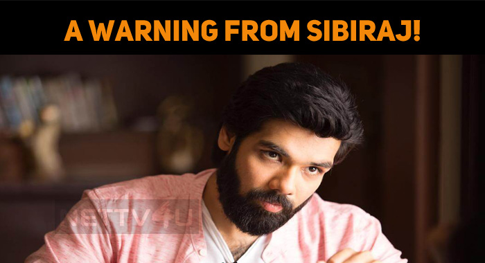 A Warning From Sibiraj!
