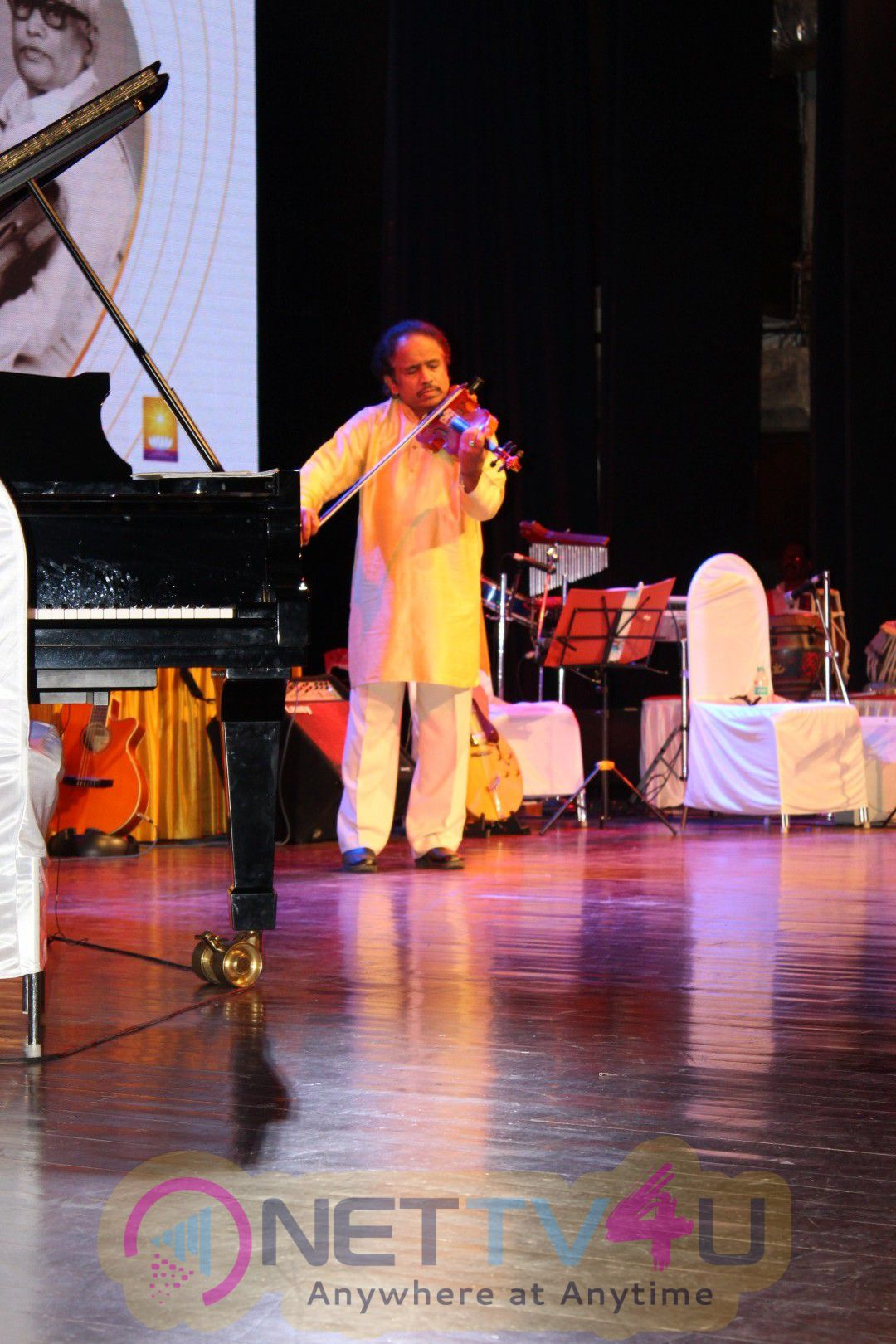 25th Laxminarayana Global Music Festival With Dr L Subramaniam And Kavita Krishnamurti Images